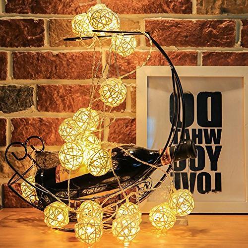 Globe Rattan Lights, USB Starry Strand for Tree Patio Lawn Home,