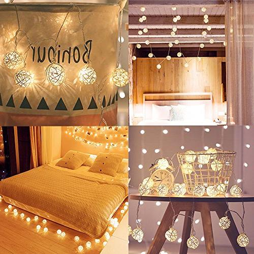 Globe String Lights, 20 LED Strand Lights Tree Indoor Patio Lawn Home,