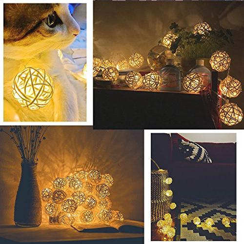 Globe Ball Lights, HOPET LED USB Strand Christmas Tree Patio