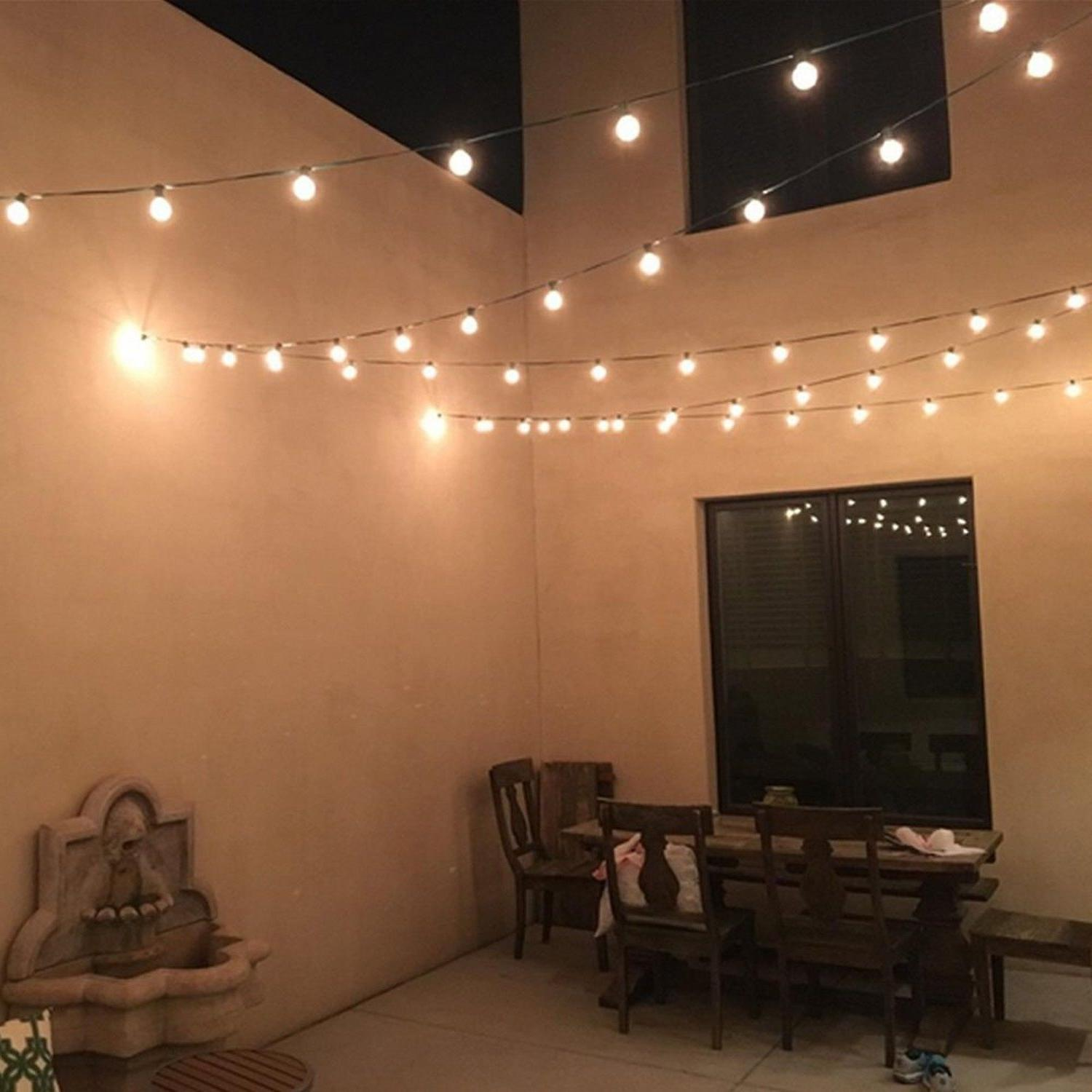 Globe Sting Lights With Hangers For