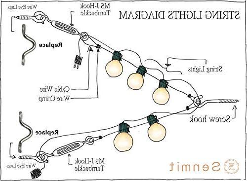 Senmit Suspension Light Guide Wire,Vinyl Coated ft Hooks