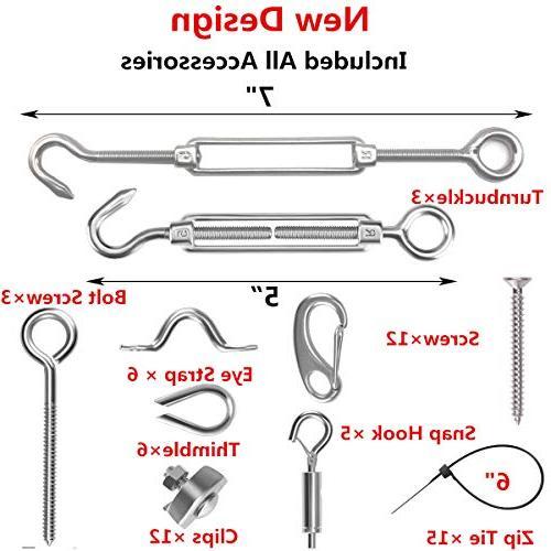 Senmit Suspension Kit, Light Steel Cable, ft Hooks