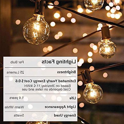 Guddl Globe with G40 Lights for Wedding Camping RV Gazebo Backyard Black