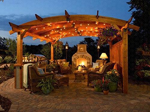 Globe with G40 Garden Patio Bistro Market Cafe Umbrella Lamp Backyard Lights