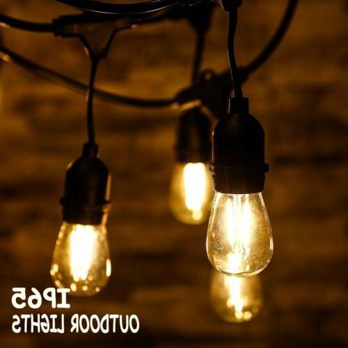 globe string lights bulbs 48ft led outdoor