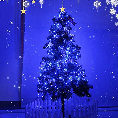 HAHOME Waterproof String and Starry Lights with Supply Christmas Halloween Wedding Party Decoration,Blue