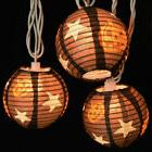 Kurt Adler Halloween Pumpkin String 10 Light Paper Jack O La