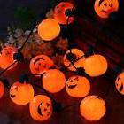 YUNLIGHTS Halloween String Lights 35-Inch Pumpkin Necklace w