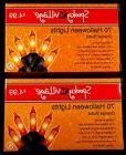 Halloween string lights - indoor/outdoor - orange bulbs - 2