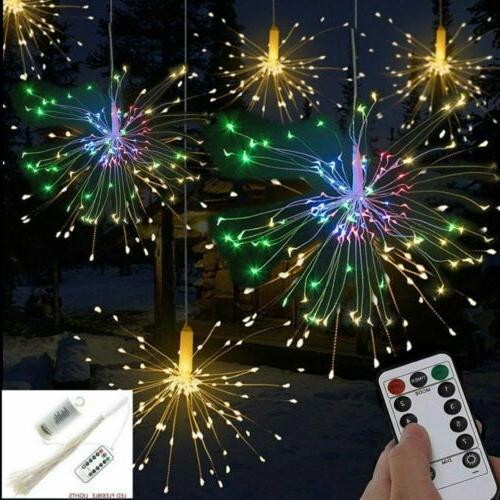 Hanging Firework LED Fairy String Light 8 Modes Remote Chris