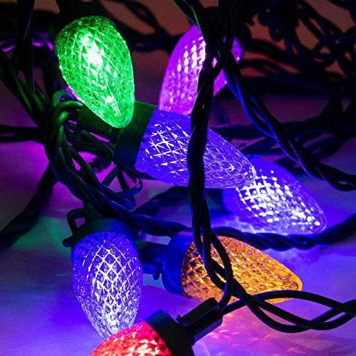 ALEKO HL25STRMC Style Big Bulb Strawberry String Lights Holiday Christmas 25 25 Foot Multicolored