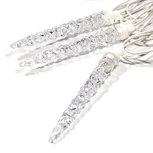 ALEKO Icicle 50 Lights Foot Clear