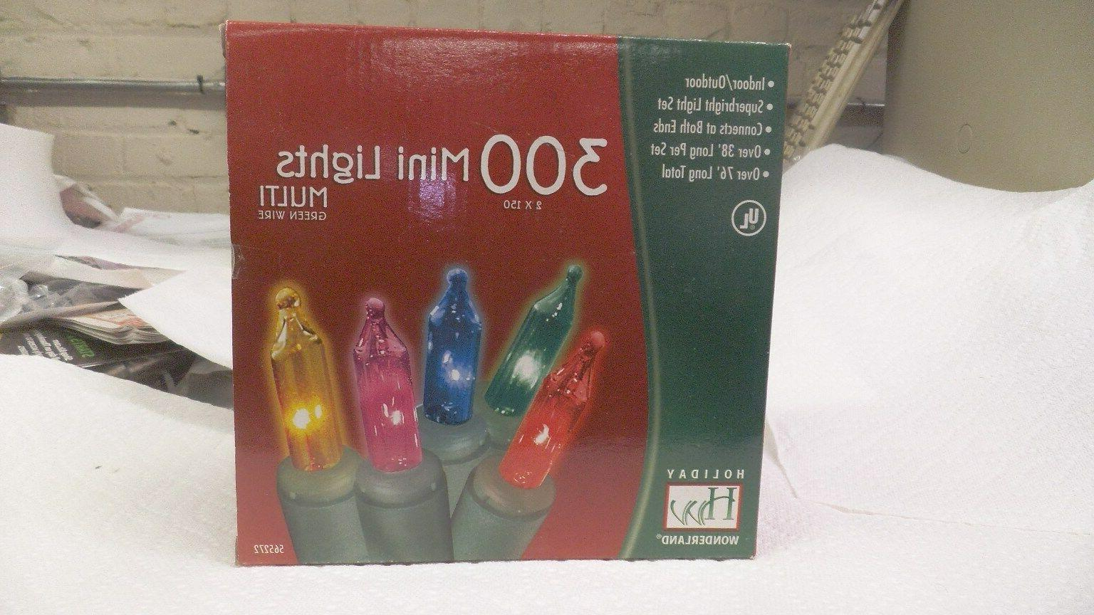 Holiday Wonderland's 300-Count Mini Multi Color Christmas Li