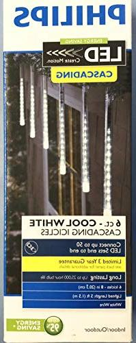 Philips Indoor/ Outdoor 6 Icicle LED Lights CASCADING Create