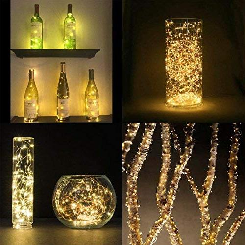 LE Copper Wire Warm Fairy Lights, Indoor Ambiance Lighting for Party Holiday, Power Adaptor