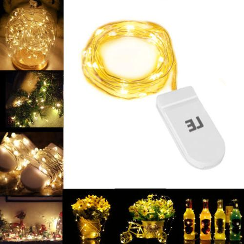 LE 3.3ft/1m 20 LED String Copper Wire Fairy Lights Battery O