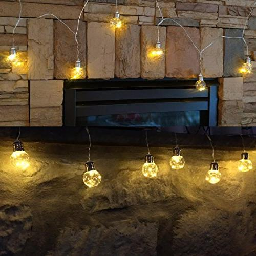 String G45 LED Bulb, Café Light Remote, 10ft, 8 Warm Indoor Bulb Patio, Backyard More