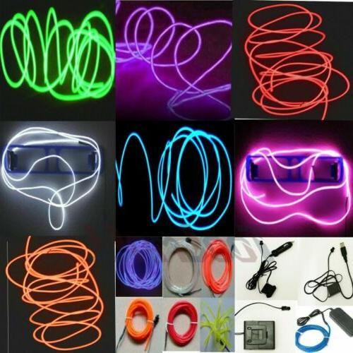 Neon LED EL Strip Rope Decor Party +