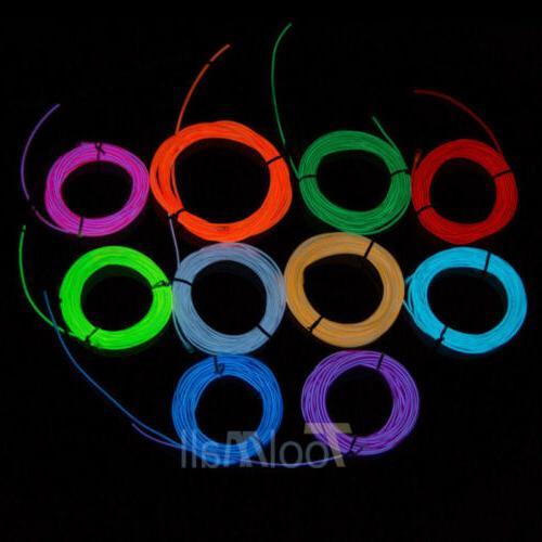 Neon EL Rope Decor Car Party + Controller