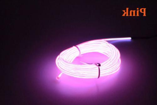 LED EL Wire Neon Glow String Strip Light