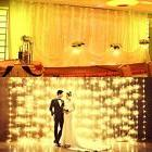 LED Fairy Curtain Window String Lights Wedding Party Room De