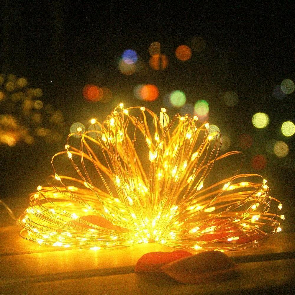 LED Fairy String Lights 200 Warm White 65.6 ft Copper Wire P