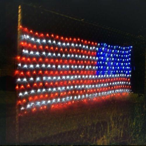 American LED Flag Net Lights For Festival Indoor/Outdoor Dec