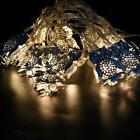 LED Metallic Iron Owl String Lights Christmas Halloween Fest