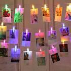 LED Photo Picture Clip String Lights Battery Operated for Wa