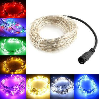 LED SILVER WIRE STRING FAIRY LIGHTS MINIATURE GARDEN DECORS