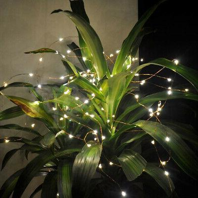 LED WIRE STRING FAIRY LIGHTS GARDEN DECORS