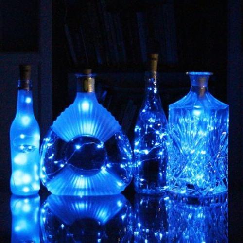LED Fairy Lights Bottle Xmas Decor