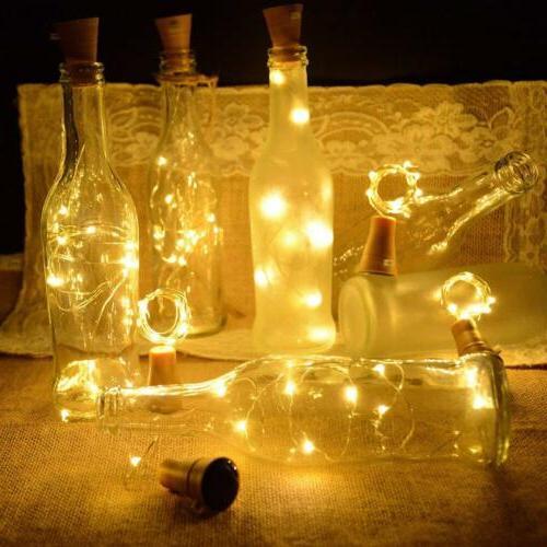 LED Solar Lights Bottle Cork Wire Lamp Xmas Decor