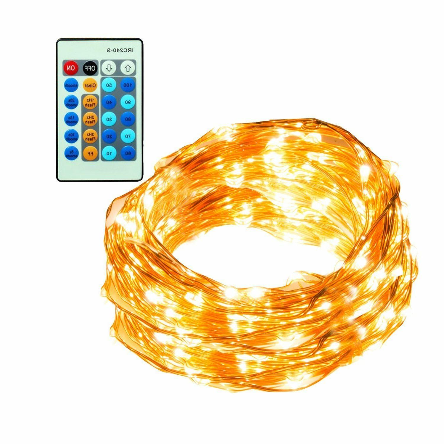 led string lights 66ft 200 leds dimmable