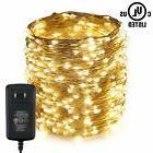 LED String Lights,ER CHEN 165Ft 500 LEDs Silver Wire Lights,