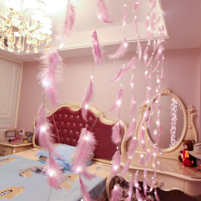 Led Strip Feather <font><b>String</b></font> Fairy Bedroom Living Style Romantic