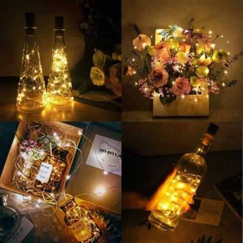 LED Wine Bottle Cork Fairy Lights Warm Cool White Multi-Colour Christmas
