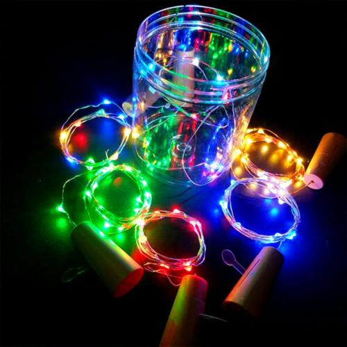 LED Wine Cork Fairy White Multi-Colour Christmas