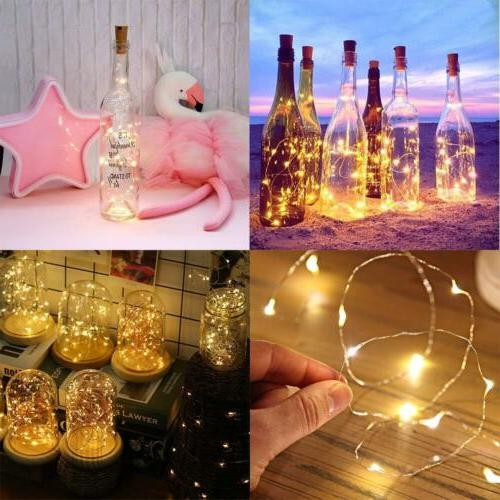 LED Bottle Cork Fairy Cool White Multi-Colour