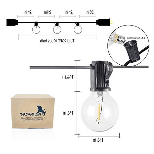 Outdoor Dimmable - G40 Globe Bulbs, Edison Vintage Bulbs Hanging Lighting Porch Party Christmas