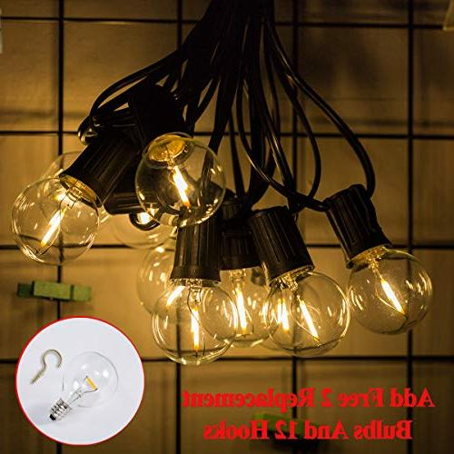 Outdoor LED String Lights Dimmable - Globe Bulbs Lighting for Café Porch Yard