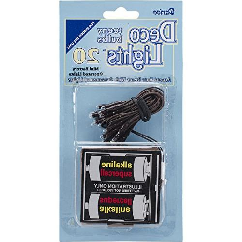 Deco Lights Battery Operated Teeny Bulbs, 20 Bulbs, White Li