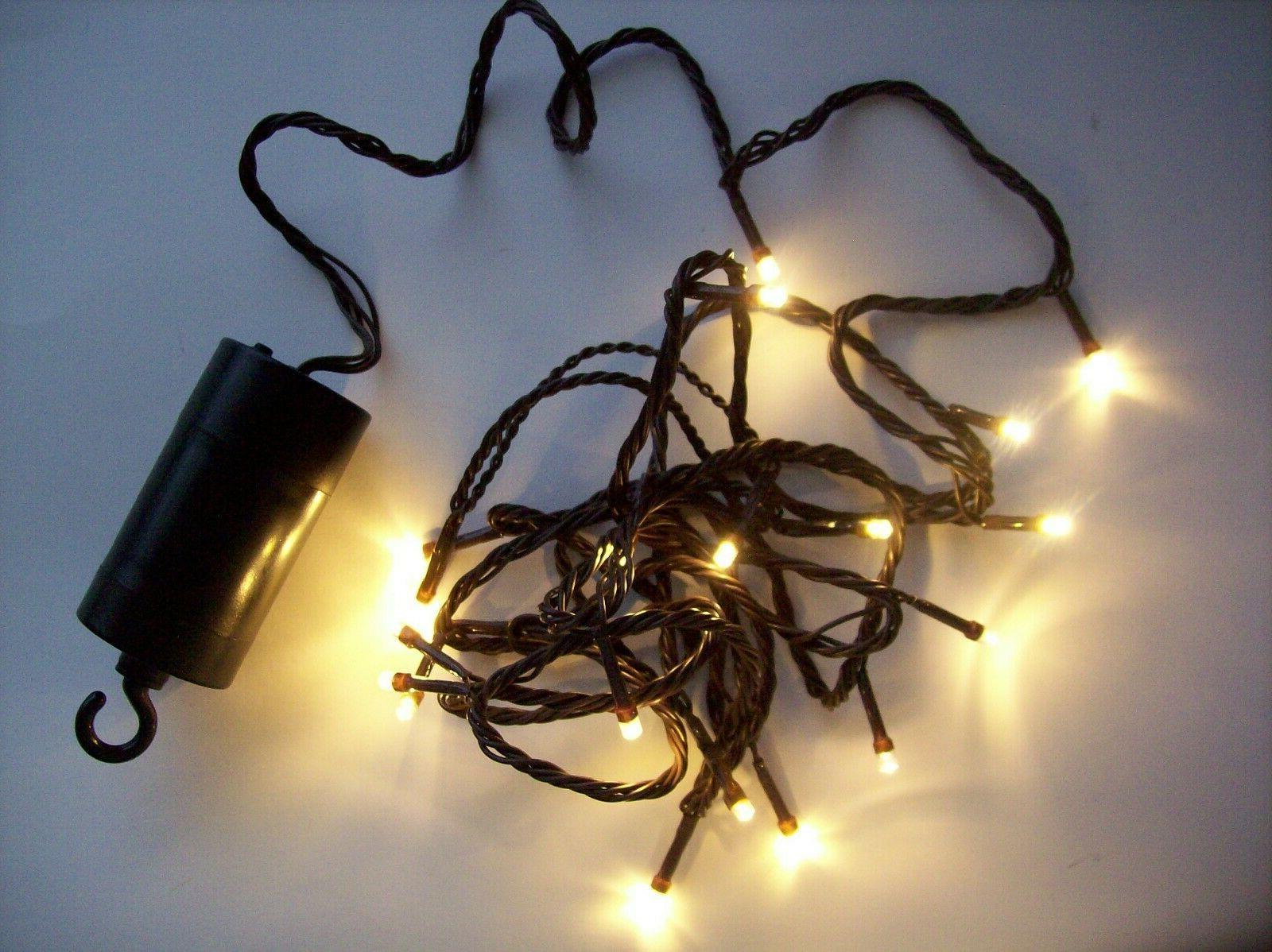 Deco Lights Led 35 Count 18'-Clear Bulbs W/Brown Wire