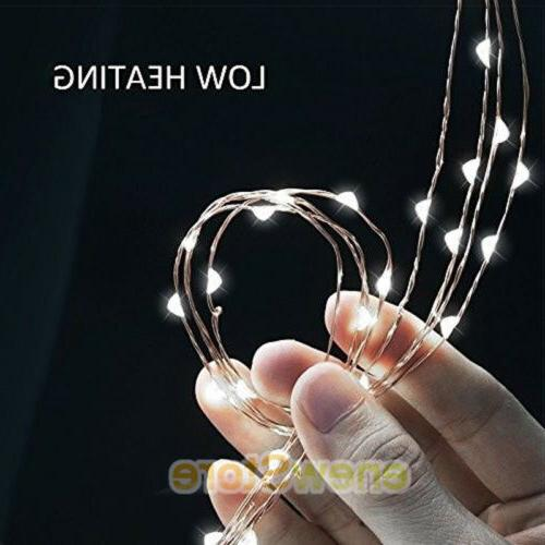 Lot LEDs Waterproof LED MICRO Silver Copper Wire String Decor