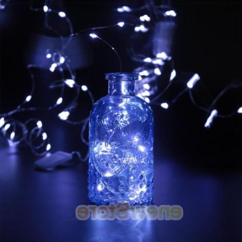 Lot LED Silver Copper Wire String Decor