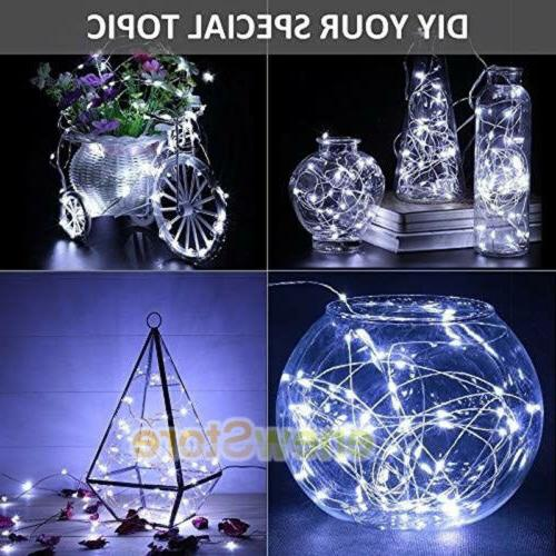 Lot 30 LEDs LED Silver Wire String Decor