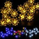 Lotus Flower Solar 5M 20LEDS Fairy String Lights Outdoor Xma