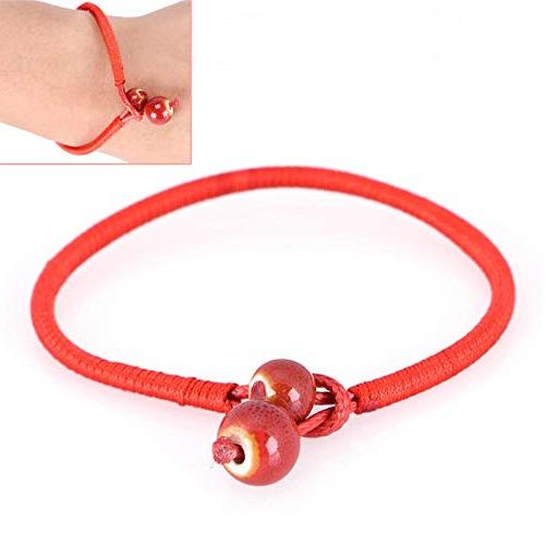Lucky Red String Bracelets Ceramic Charm Bracelets Handmade Adjustable New