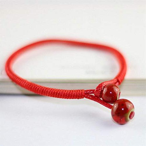 Lucky Red String Bracelets Ceramic Bead Charm Bracelets New