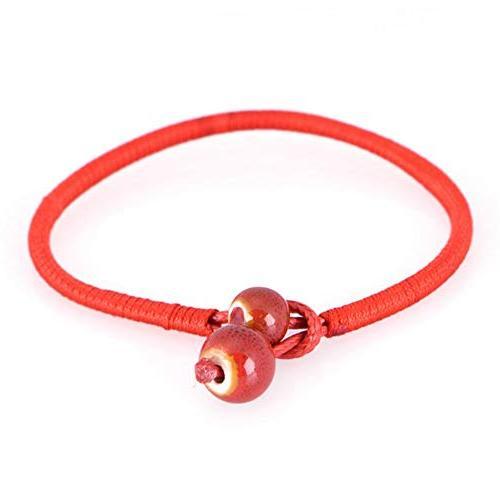 lucky red string bracelets ceramic